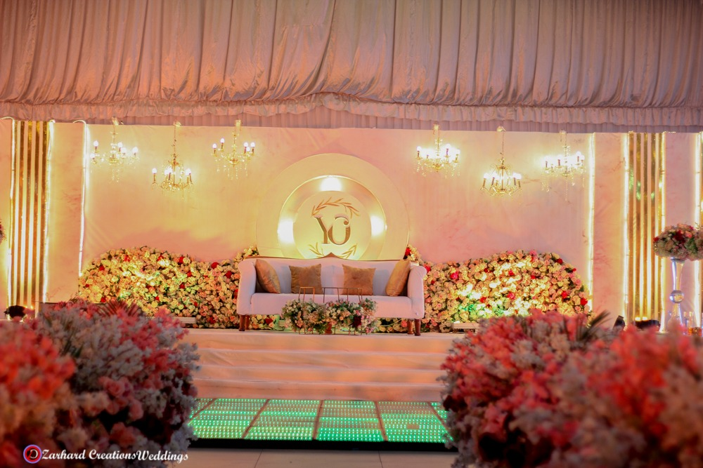 beautiful wedding stage design suitable for corporate event