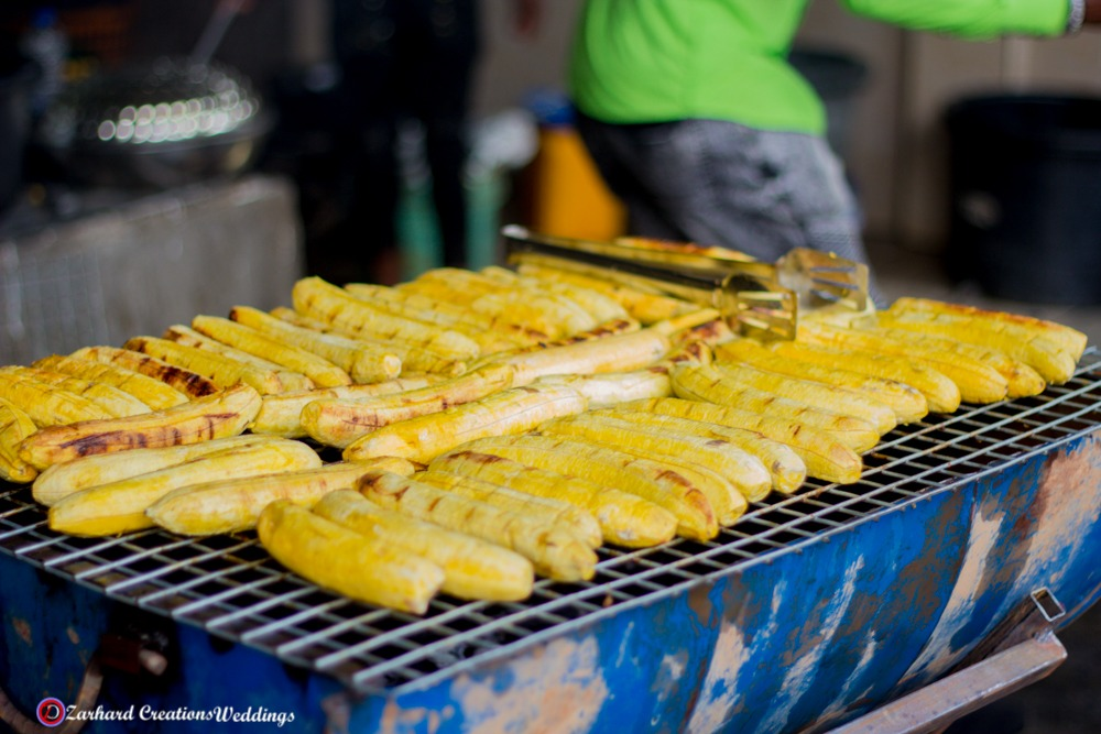grilled plantain or boli - African delicacy